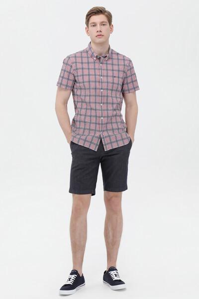 면혼방 슬림핏 멀티 체크 셔츠