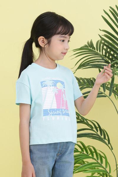 프레임 프린트 티셔츠