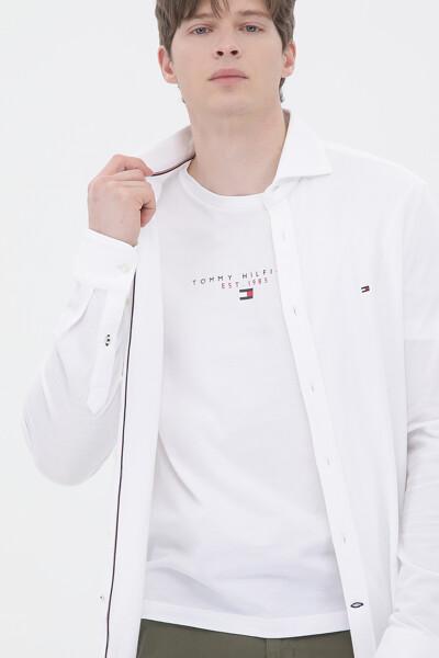 슬림핏 솔리드 셔츠