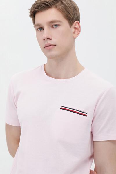 코튼 솔리드 포켓 티셔츠