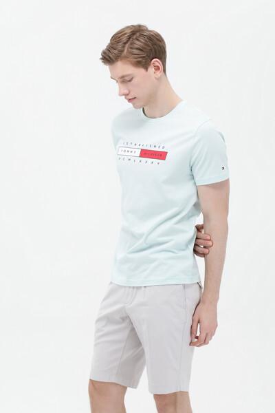 코튼 박스 로고 반팔 티셔츠