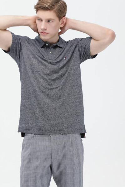 린넨혼방 레귤러핏 폴로 티셔츠