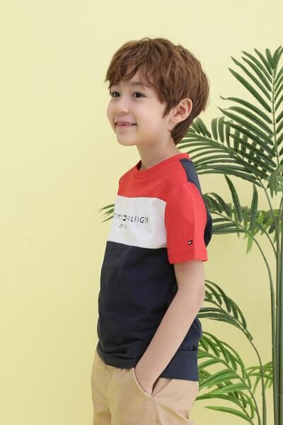코튼 에센셜 컬러블록 반팔 티셔츠