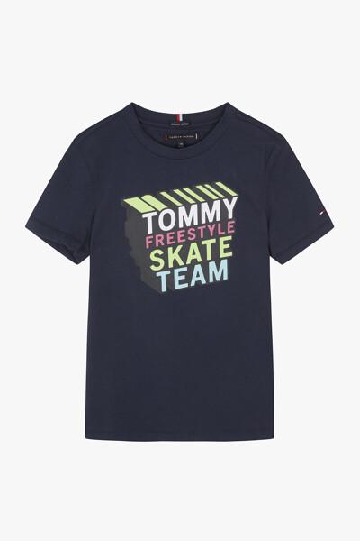 코튼 스케이트 크루넥 티셔츠