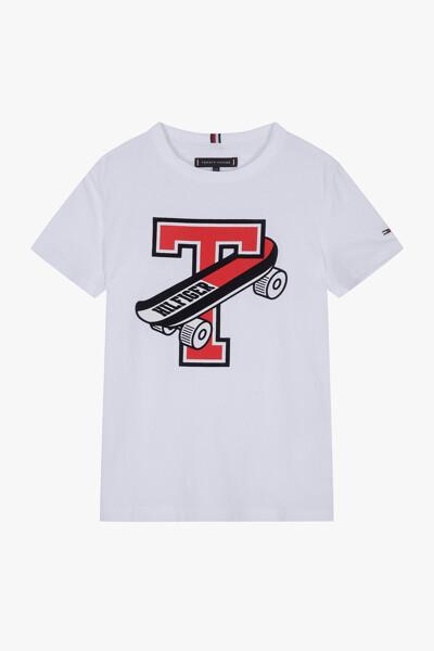 면혼방 스케이트보드 크루넥 티셔츠
