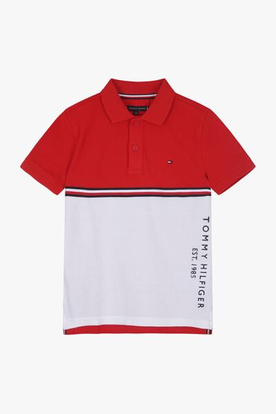 코튼 컬러블록 테이프 폴로 티셔츠