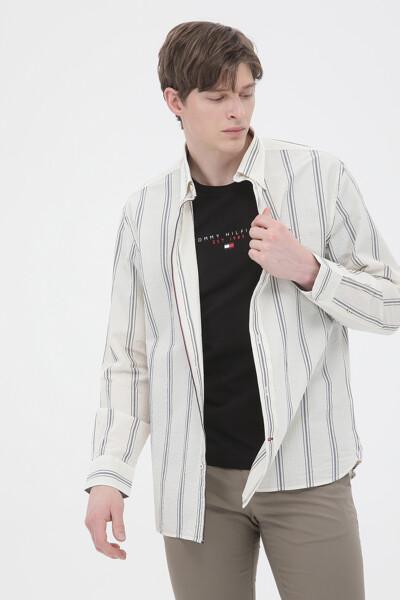 시어서커 릴렉스핏 볼드 스트라이프 셔츠