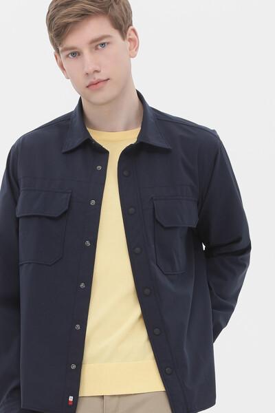 오버핏 스트레치 포켓 셔츠
