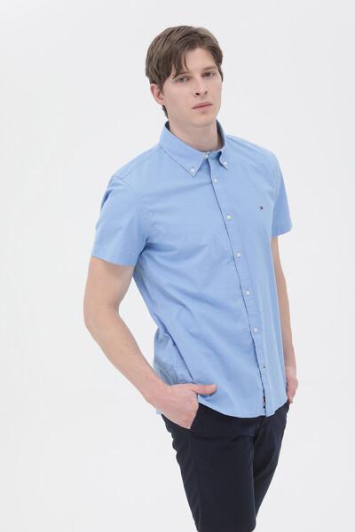 핀 스트라이프 반팔 셔츠