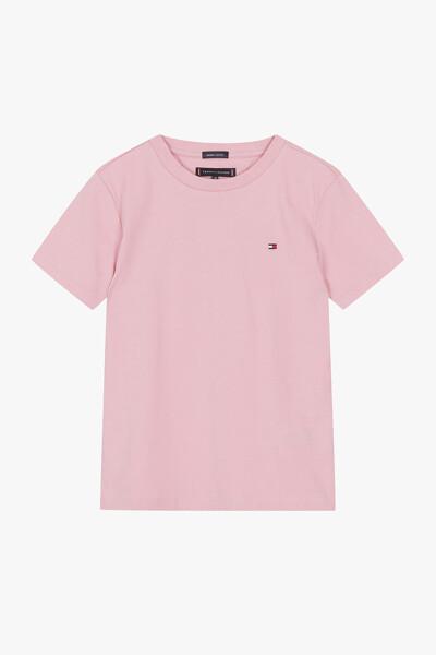 코튼 백 로고 크루넥 티셔츠