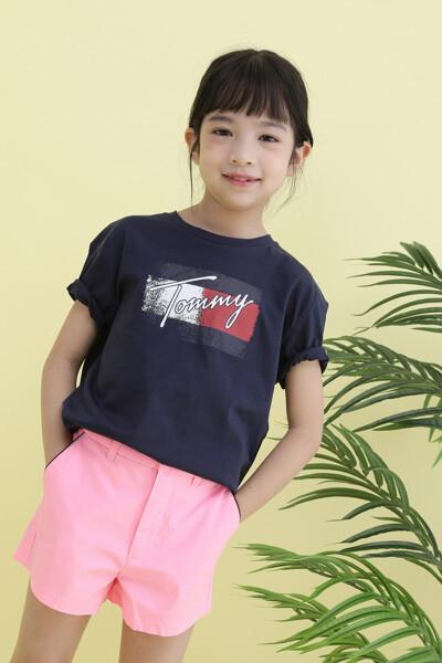 코튼 플래그 반팔 티셔츠