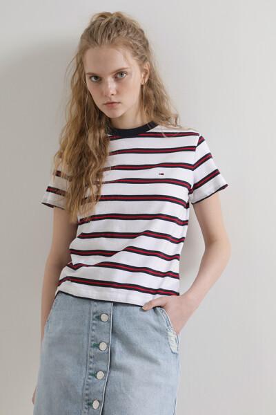 코튼 레귤러핏 콘트라스트 티셔츠