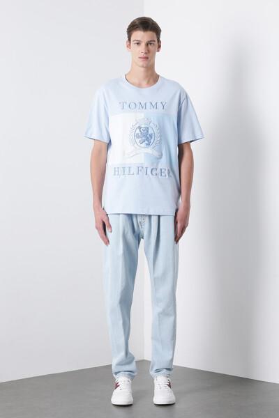 코튼 크레스트 플래그 반팔 티셔츠