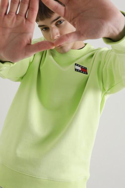 코튼 릴렉스 뱃지 스웨트셔츠