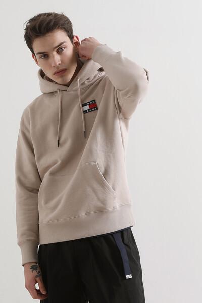 코튼 뱃지 후드 티셔츠