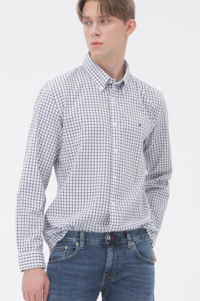 시어서커 레귤러핏 윈도우페인 셔츠