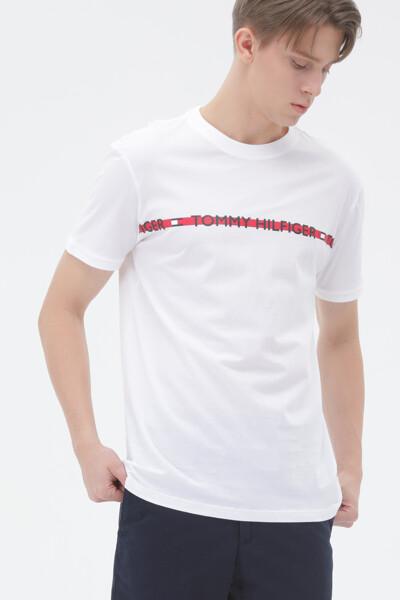라인 로고 라운지웨어 티셔츠