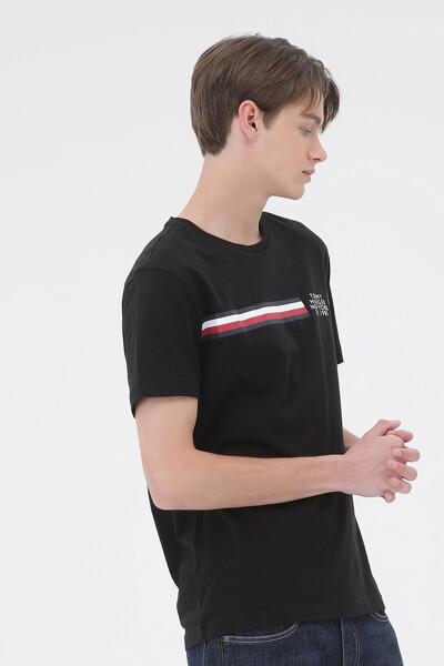 코튼 스트라이프 반팔 티셔츠