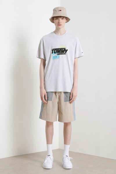 코튼 컬러 그래픽 반팔 티셔츠