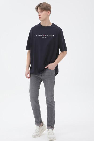 코튼 TOMMY 로고 반팔 티셔츠