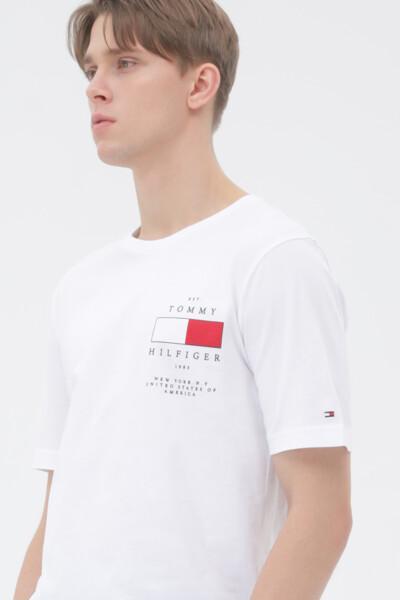 코튼 백 패치 티셔츠