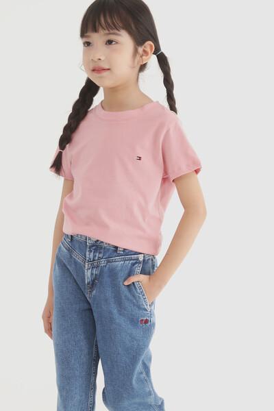 코튼 플래그 크루넥 티셔츠 2P