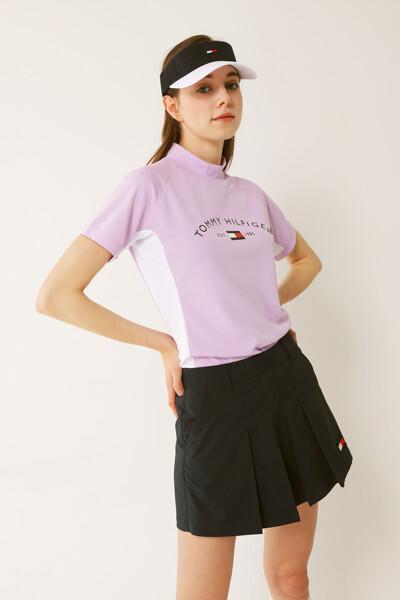 타미힐피거 플래그 하이넥 티셔츠