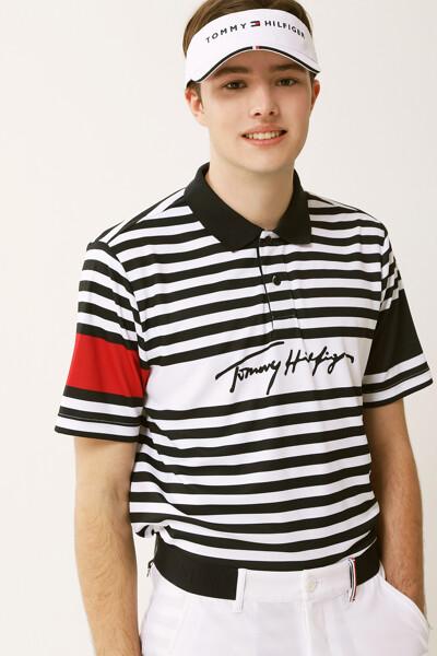 타미 시그니처 보더 폴로 티셔츠