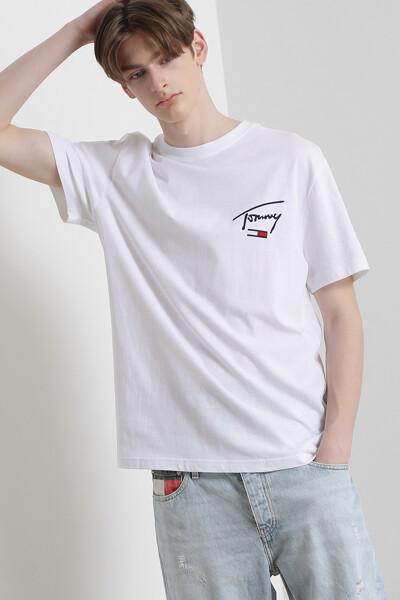 백 로고 반팔 티셔츠