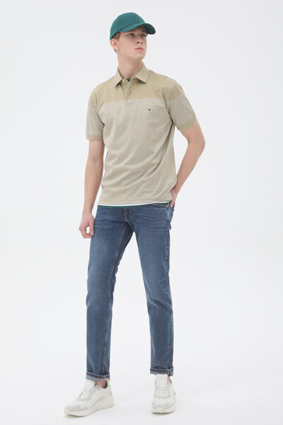 코튼 콘트라스트 폴로 티셔츠