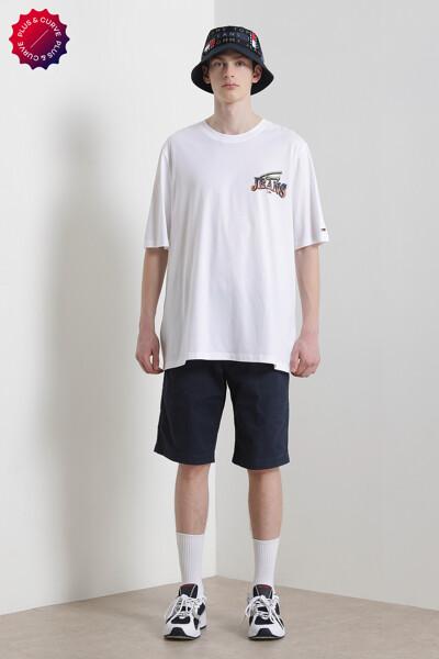 플러스 다이아몬드 백 로고 티셔츠