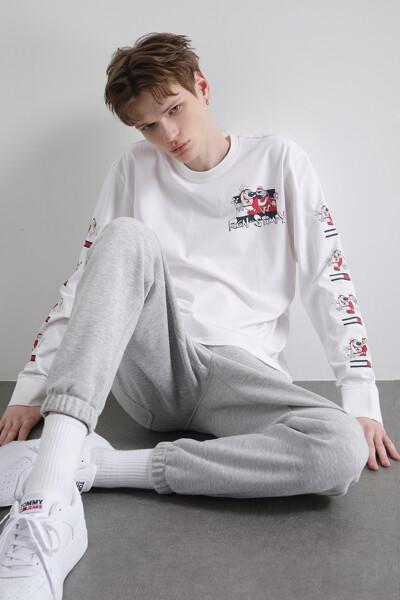 [REN AND STIMPY x TOMMY]  롱 슬리브 티셔츠