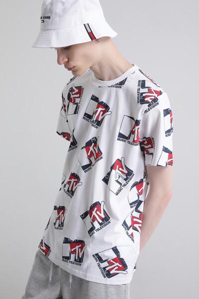 [MTV x TOMMY] 로고 반팔 티셔츠