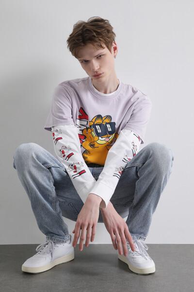 [GARFIELD x TOMMY] 타이다이 반팔 티셔츠
