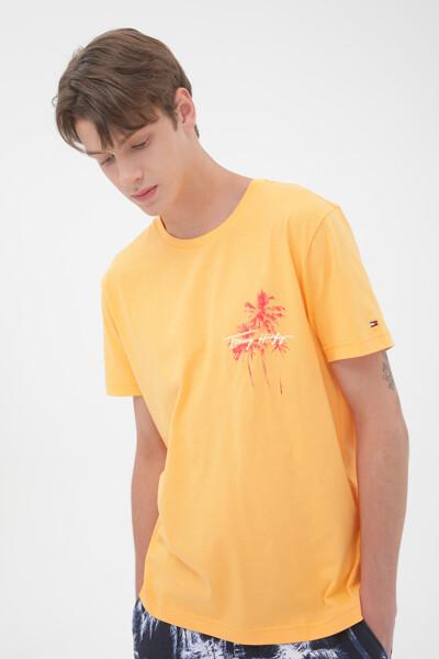 팜 프린트 박스 티셔츠