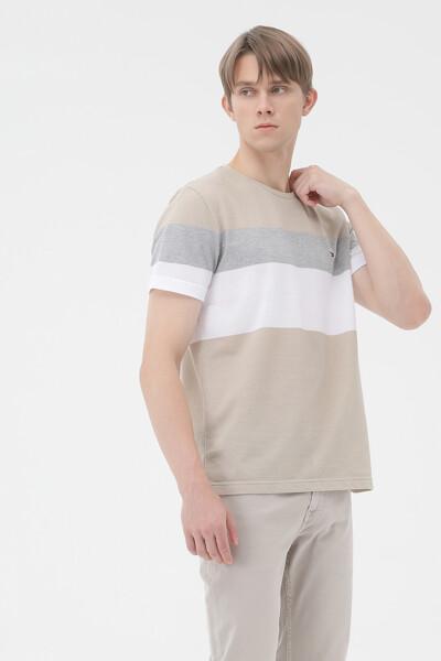 토널 컬러블록 티셔츠