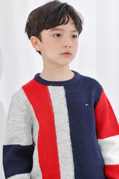 컬러블록 스웨터