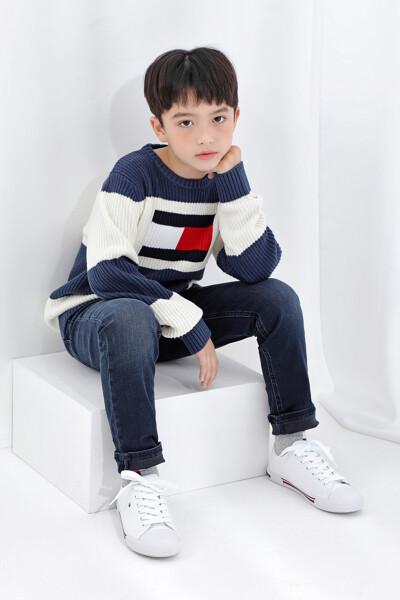 플래그 컬러블럭 스웨터