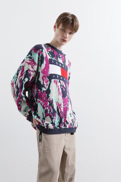 플래그 카모플라주 스웨터