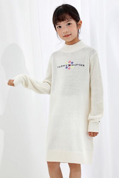 목 넥 스웨터 원피스