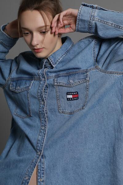 데님 레귤러핏 포켓 셔츠