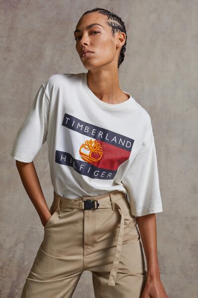 타미힐피거X팀버랜드 플래그 반팔 티셔츠