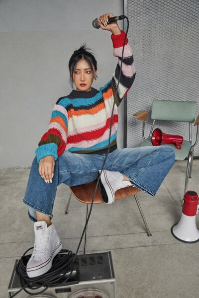 멀티 컬러블럭 스웨터