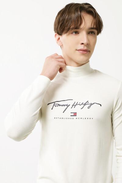 하이넥 롱 슬리브드 셔츠