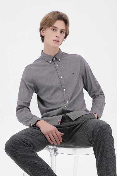 캐시미어혼방 슬림핏 모던 하운드투스 셔츠