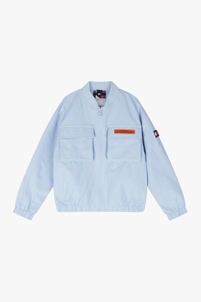 베이직 홀로그램 로고 봄버 자켓