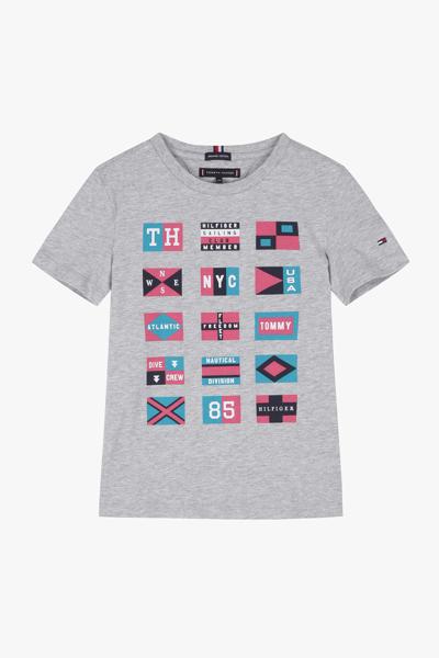 코튼 플래그 반소매 티셔츠