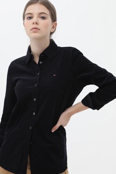 코듀로이 릴렉스핏 솔리드 셔츠