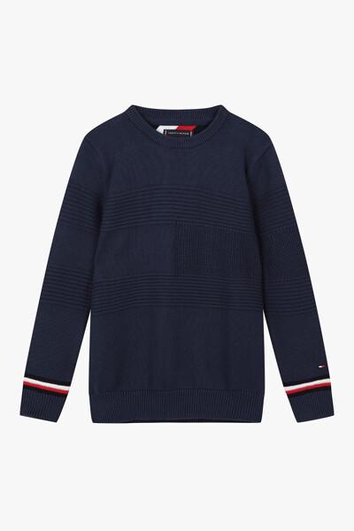 스웨터 풀오버|플래그 크루넥 스웨터