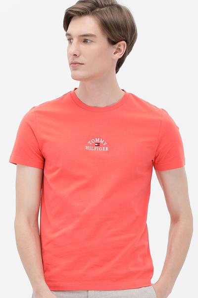 코튼 로고 반소매 티셔츠
